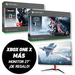 Xbox One X + Monitor GAME M27E 27' de regalo