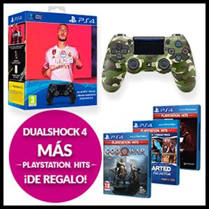 Dualshock 4 + Juego PS Hits de regalo