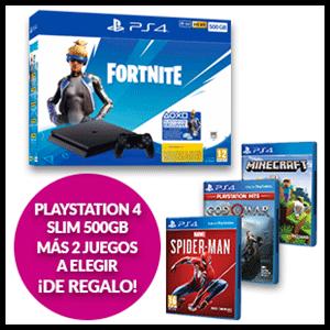 PlayStation 4 Slim 500GB + 2 Juegos a elegir de regalo