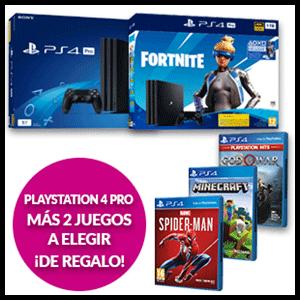 Playstation 4 Pro + 2 juegos a elegir de regalo