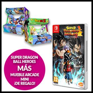 Super Dragon Ball Heroes World Mission + Mueble Arcade Mini de Regalo