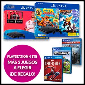 PlayStation 4 1Tb + 2 juegos a elegir de regalo