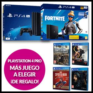 Playstation 4 Pro + juego a elegir de regalo