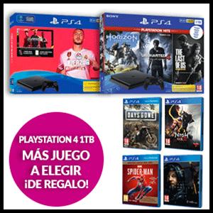 PlayStation 4 1TB + juego a elegir de regalo