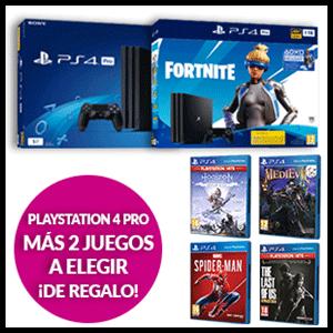 Consola Playstation 4 PRO 1TB + 2 juegos a elegir de regalo