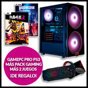GAMEPC PRO P53T + Pack Periféricos GAME PK200