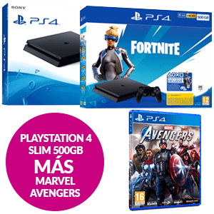 PlayStation 4 Slim 500 GB + Marvel Avengers