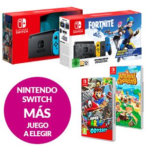 Nintendo Switch + Animal Crossing ó Super Mario Odyssey