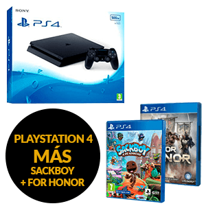 PlayStation 4 500Gb + For Honor + Sackboy A Big Adventure