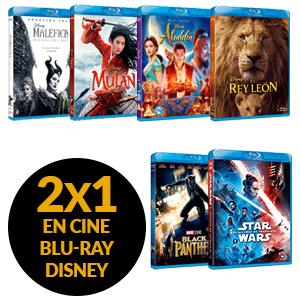 2x1 en cine Blu-Ray Disney
