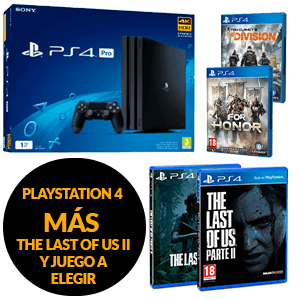 Consola PlayStation 4 Pro 1Tb + The Last Of Us Parte II + For Honor o The Division