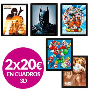 2x20€ en Cuadros 3D
