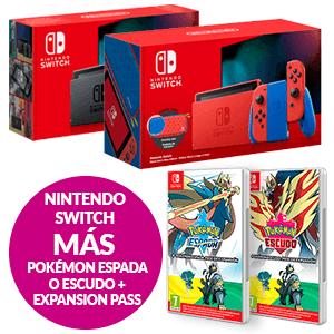 Nintendo Switch + Pokémon Espada o Escudo + Pase de expansión