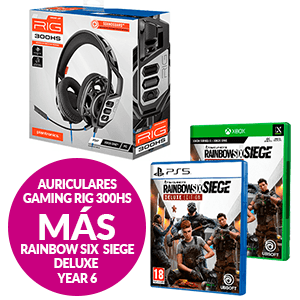 Auriculares Rig 300HS + Rainbow Six Siege Deluxe Year 6