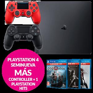 PlayStation 4 Seminueva + Controller + juego PS HITS a elegir