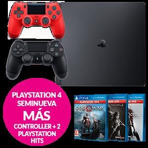 PlayStation 4 Seminueva + Controller + 2 juegos PS HITS a elegir
