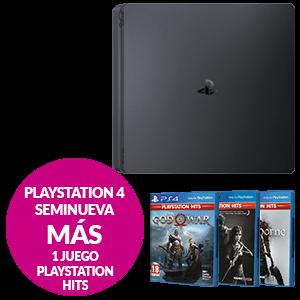 PlayStation 4 Seminueva + 1 juego PS HITS a elegir