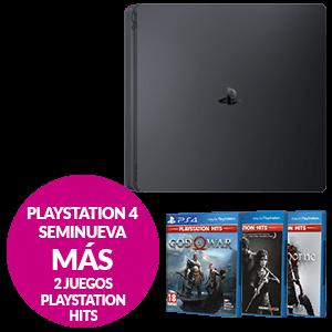 PlayStation 4 Seminueva + 2 juegos PS HITS a elegir