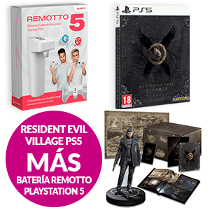 Resident Evil Village + Batería Remotto PS5 por 15€ más