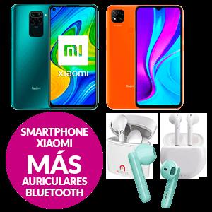 Smartphone Xiaomi + Auriculares Bluetooth
