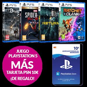 Juego PlayStation 5 + Tarjeta PSN 10€ de regalo