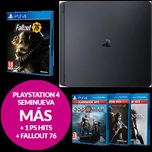 PlayStation 4 Seminuevo + Juego PS Hits a elegir + Fallout 76