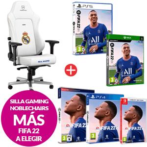 Silla Gaming Noblechair Real Madrid + Fifa 22 a elegir