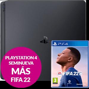 Pack Consola PS4 Seminueva + FIFA 22