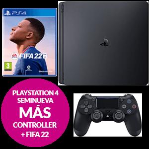 Pack Consola PS4 Seminueva + FIFA 22 + Dualshock 4