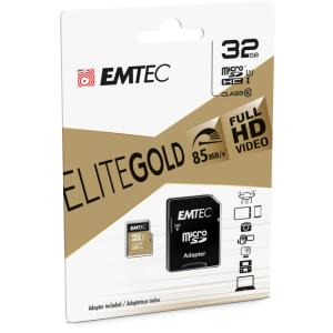Emtec microSD Class10 Gold+ 32GB memoria flash MicroSDHC Clase 10