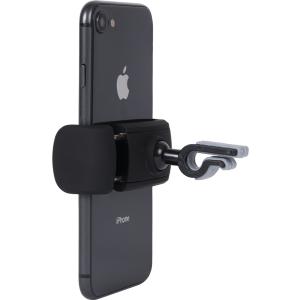Soporte de coche ultracompacto para smartphones negro