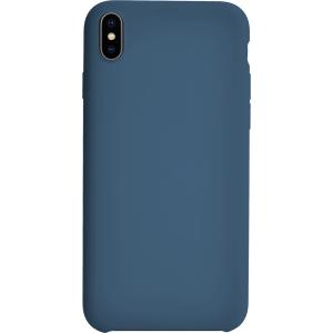 Carcasa rígida acabado suave en azul para iPhone XS MAX
