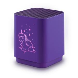 Altavoz Bluetooth con luz y diseño de Unicornio