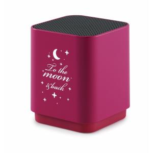 Altavoz Bluetooth con luz y diseño luna