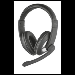 Trust 21662 auricular y casco Auriculares Diadema Negro