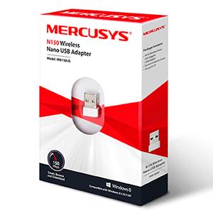 Mercusys MW150US adaptador y tarjeta de red USB 150 Mbit/s