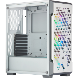 CAJA ICUE 220T RGB AIRFLOW TEMPERED GLASS MID-TOWER BLANCA CORSAIR