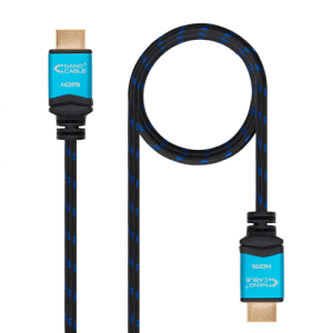 Nanocable Cable HDMI V2.0 4K@60GHz 18 Gbps A/M-A/M 0.5 m Negro - Cable Video