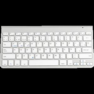 SUBBLIM Teclado Wireless Bluetooth Pure Compact Silver