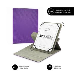 "SUBBLIM Funda Tablet Rotate 360 Executive Case 10,1"" Purple"