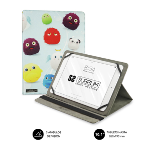 SUBBLIM Funda Tablet Universal TRENDY CASE FURRY 10.1""