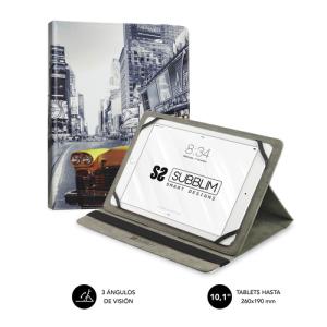 """SUBBLIM Funda Tablet Universal TRENDY CASE NY TAXI 10.1"""""""