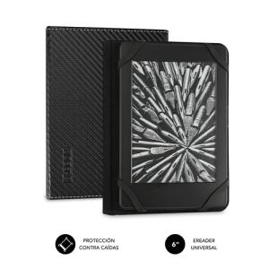 """SUBBLIM Funda Libro Electrónico Clever Ebook Case 6"""" Black"""