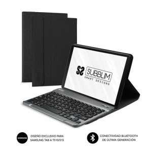 SUBBLIM Funda con Teclado KEYTab Pro BT Samsung GT A T510/515 Black