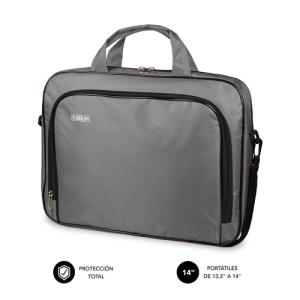 "SUBBLIM Maletín Ordenador Oxford Laptop Bag 13,3""-14"" Grey"