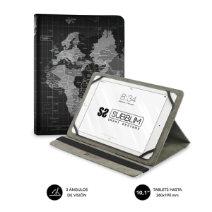 SUBBLIM Funda Tablet Universal TRENDY CASE WORLD MAP 10.1""