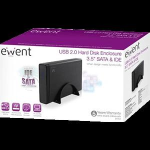 """Ewent EW7047 caja para disco duro externo 3.5"""" Negro"""