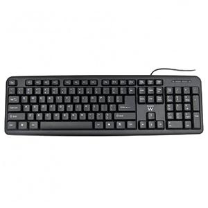 Ewent EW3109 teclado USB + PS/2 Negro