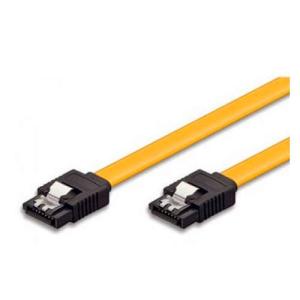 Ewent 0.5m, 6GBs, SATA 3 cable de SATA 0,5 m SATA 7-pin Negro, Amarillo