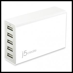 j5create JUP50 cargador de dispositivo móvil Interior Blanco